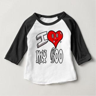 Camiseta Para Bebê Eu amo minha vaia