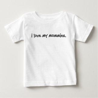 Camiseta Para Bebê Eu amo minhas mamãs Tee- seu borracho posso ser