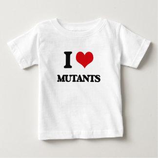 Camiseta Para Bebê Eu amo mutantes