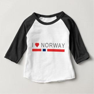 Camiseta Para Bebê Eu amo Noruega