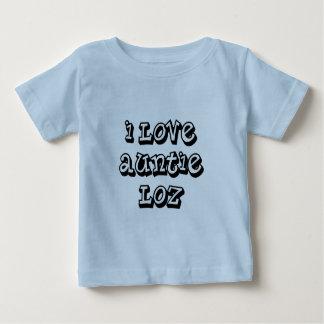 Camiseta Para Bebê Eu amo o Auntie Loz