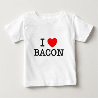 Camiseta Para Bebê Eu amo o BACON (a comida)