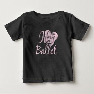 Camiseta Para Bebê Eu amo o balé
