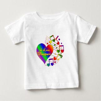 Camiseta Para Bebê Eu amo o Bluegrass