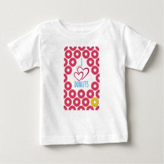 Camiseta Para Bebê Eu amo o cartaz das rosquinhas