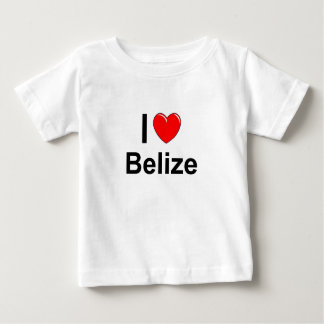 Camiseta Para Bebê Eu amo o coração Belize