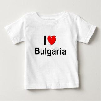 Camiseta Para Bebê Eu amo o coração Bulgária