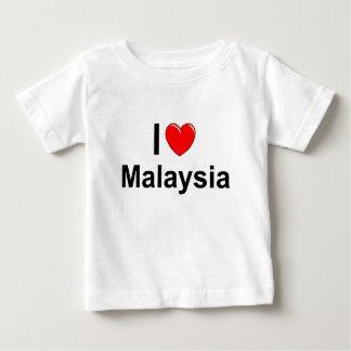 Camiseta Para Bebê Eu amo o coração Malaysia