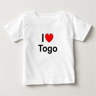 Camiseta Para Bebê Eu amo o coração Togo