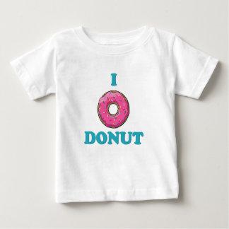 Camiseta Para Bebê Eu amo o design do rosa da rosquinha