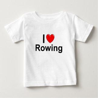 Camiseta Para Bebê Eu amo o enfileiramento do coração