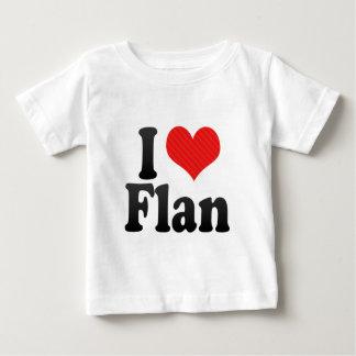 Camiseta Para Bebê Eu amo o Flan