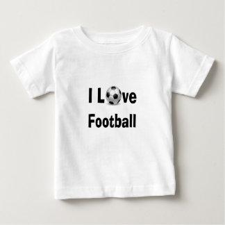 Camiseta Para Bebê Eu amo o futebol
