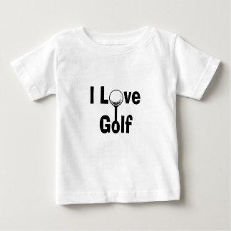 Camiseta Para Bebê Eu amo o golfe
