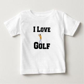 Camiseta Para Bebê Eu amo o golfe 01