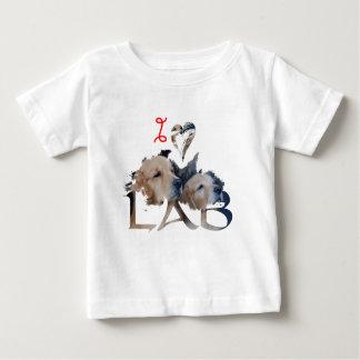Camiseta Para Bebê Eu amo o laboratório