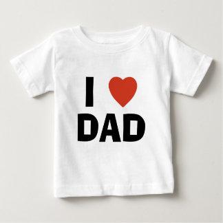Camiseta Para Bebê Eu amo o pai