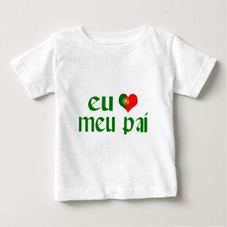 Camiseta Para Bebê Eu amo o pai - português