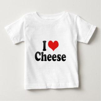 Camiseta Para Bebê Eu amo o queijo