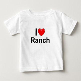 Camiseta Para Bebê Eu amo o rancho do coração
