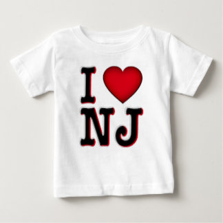 Camiseta Para Bebê Eu amo o roupa & a mercadoria de NJ