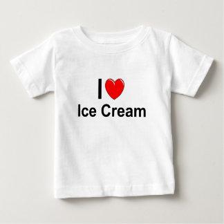 Camiseta Para Bebê Eu amo o sorvete do coração