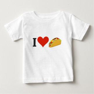 Camiseta Para Bebê Eu amo o Tacos para amantes do Taco