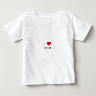 Camiseta Para Bebê Eu amo o tshirt do algodão das crianças do futebol