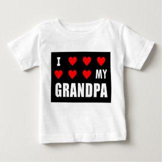 Camiseta Para Bebê Eu amo o vovô