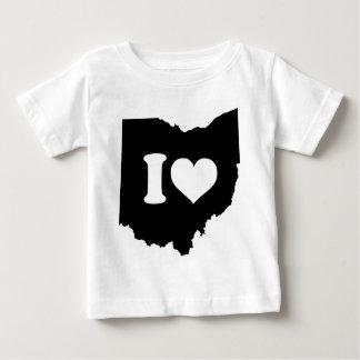 Camiseta Para Bebê Eu amo Ohio