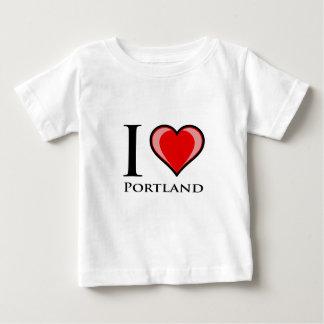 Camiseta Para Bebê Eu amo Portland