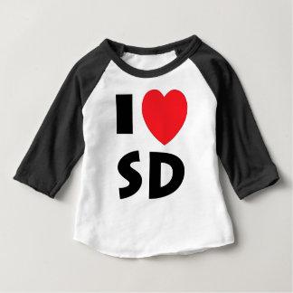 Camiseta Para Bebê Eu amo South Dakota