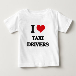 Camiseta Para Bebê Eu amo taxistas