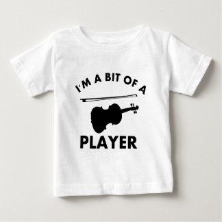 Camiseta Para Bebê Eu amo violinos