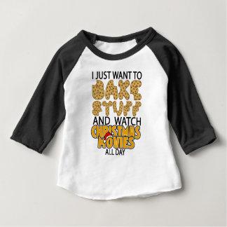 Camiseta Para Bebê eu apenas quero cozer o movimento do Natal do