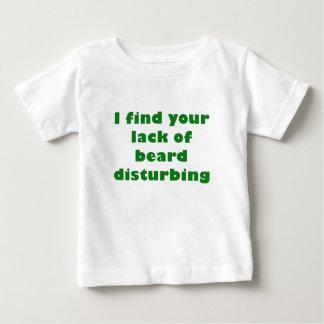 Camiseta Para Bebê Eu encontro sua falta da perturbação da barba