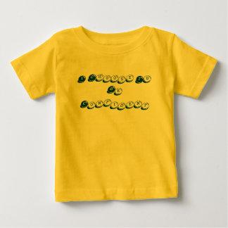 Camiseta Para Bebê Eu escolho ser t-shirt amarelo seguro
