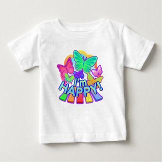 Camiseta Para Bebê Eu estou feliz! t-shirt do bebê