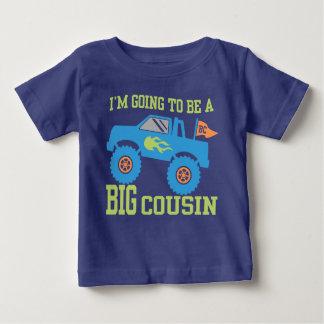 Camiseta Para Bebê Eu estou indo ser um monster truck grande do primo