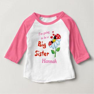 Camiseta Para Bebê Eu estou indo ser uma flor dos joaninhas da irmã