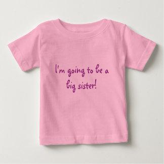 Camiseta Para Bebê Eu estou indo ser uma irmã mais velha!