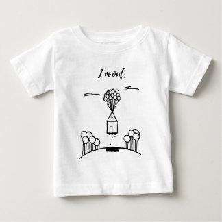 Camiseta Para Bebê Eu estou para fora