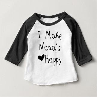 Camiseta Para Bebê Eu faço ao coração de Nana o t-shirt feliz (o