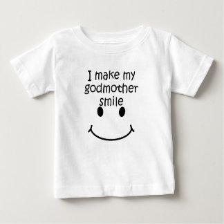 Camiseta Para Bebê Eu faço minha madrinha sorrir