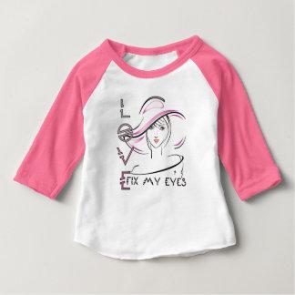 Camiseta Para Bebê Eu fixo-lhe meus olhos JESUS
