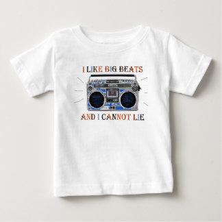 Camiseta Para Bebê Eu gosto de batidas grandes