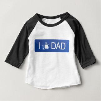 Camiseta Para Bebê Eu gosto do pai