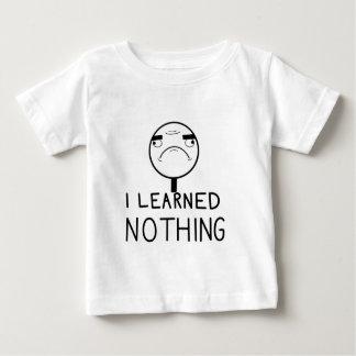 Camiseta Para Bebê Eu não aprendi nada