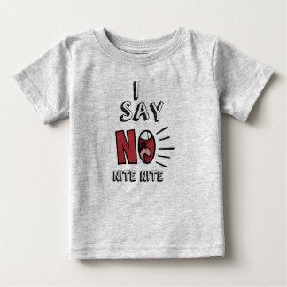Camiseta Para Bebê EU NÃO DIGO NENHUM t-shirt do CINZA da NOITE da
