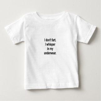 Camiseta Para Bebê Eu não fart